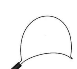 Alça Polipectomia Crescente Colono Autoclavável - Abertura 10