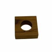 Porta guardanapo de madeira quadrado