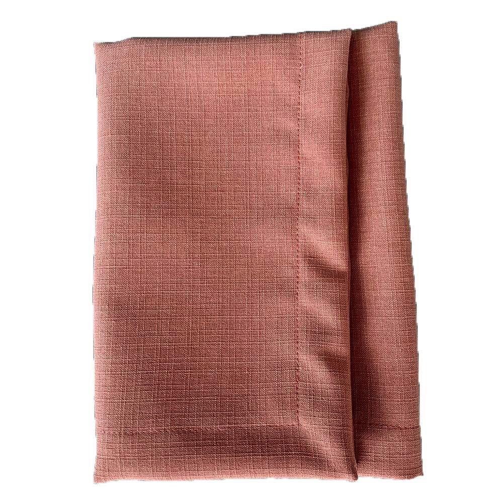 Guardanapo de linho rosé com bainha.