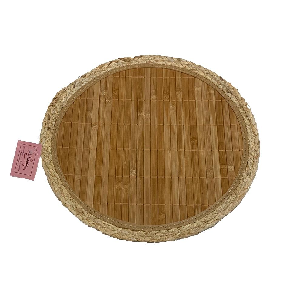 jogo americano redondo bambu