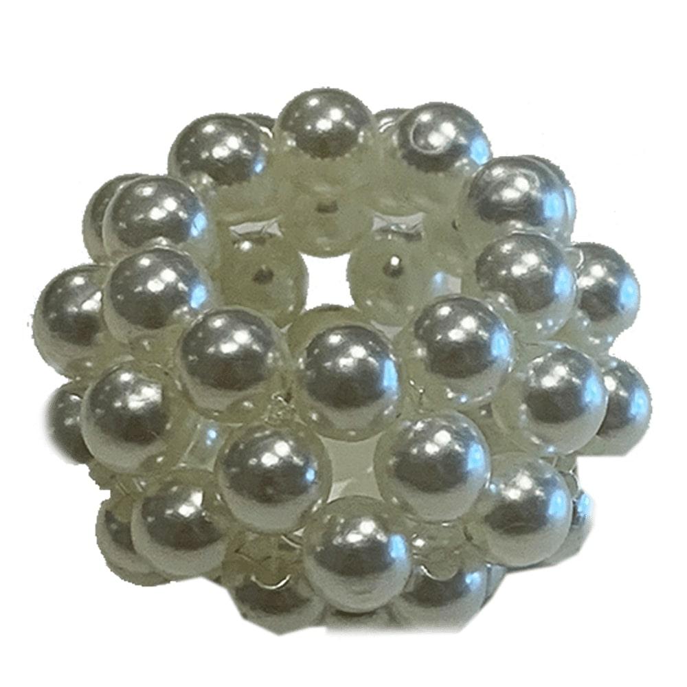 Porta guardanapo circular de pérolas