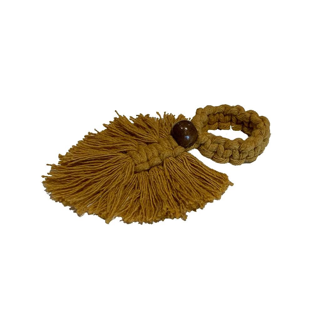 Porta guardanapo crochê mostarda 'Hygge'