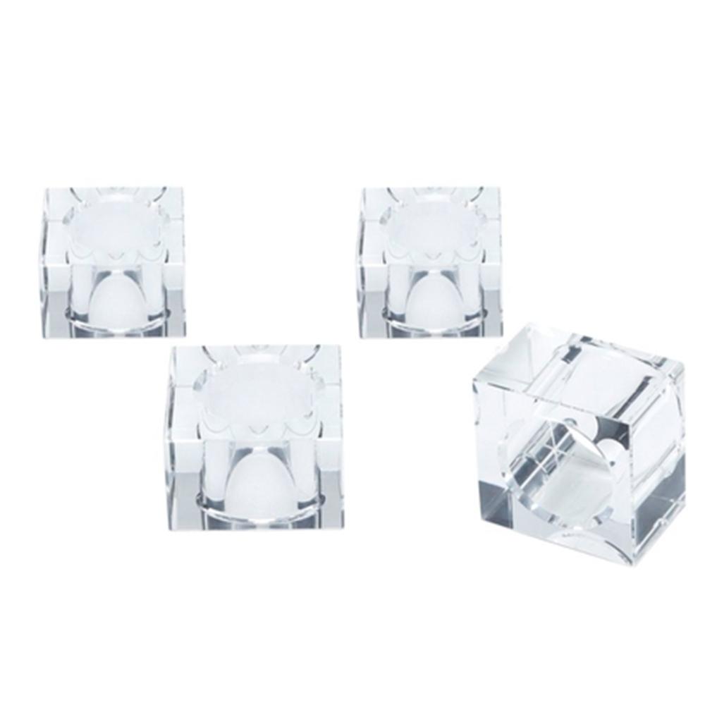 Porta guardanapo de cristal óptico transparente