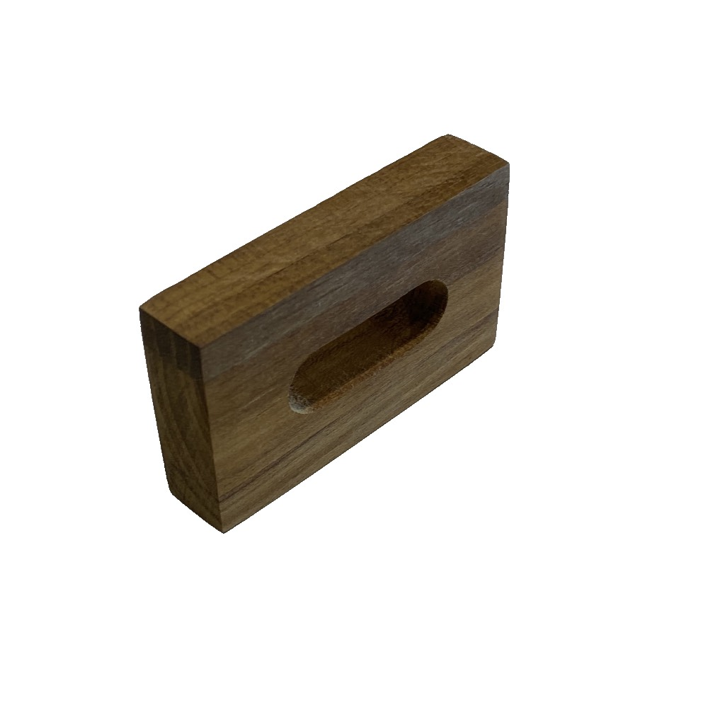 Porta guardanapo de madeira retangular