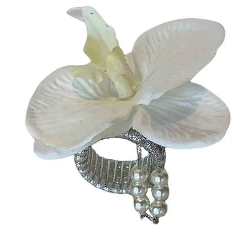 Porta guardanapo 'orquídea branca'