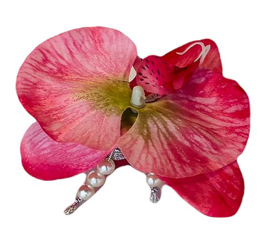 Porta guardanapo 'orquídea rosa'