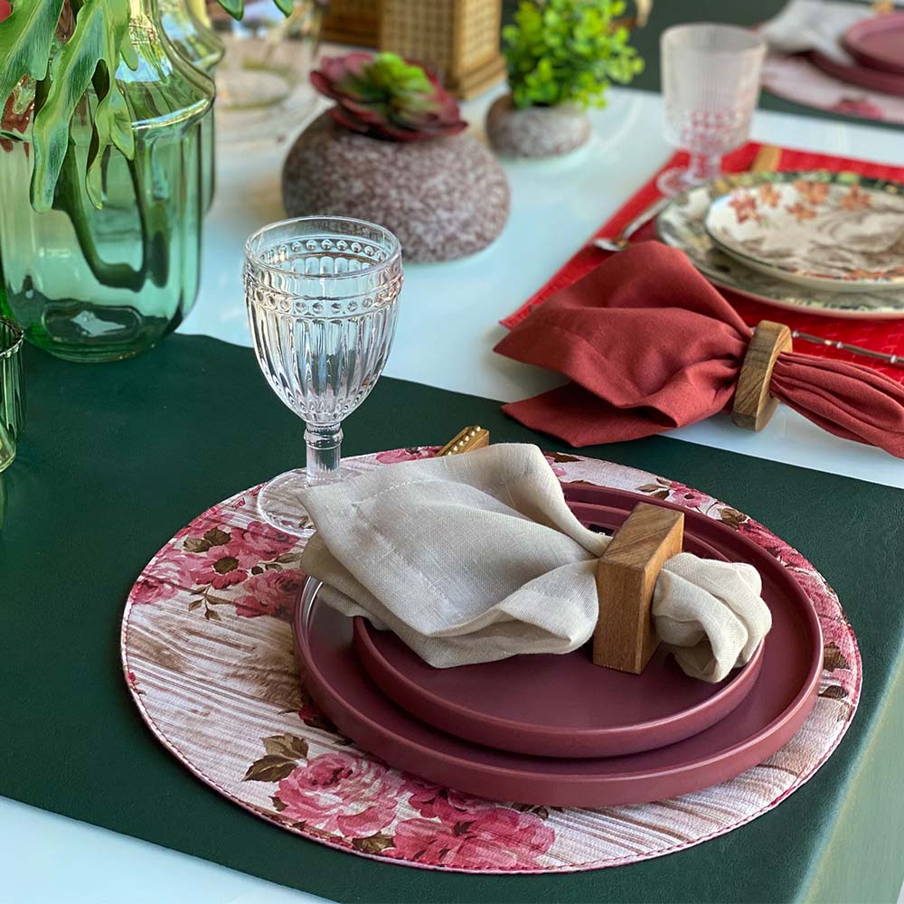 Trilho de mesa courino liso