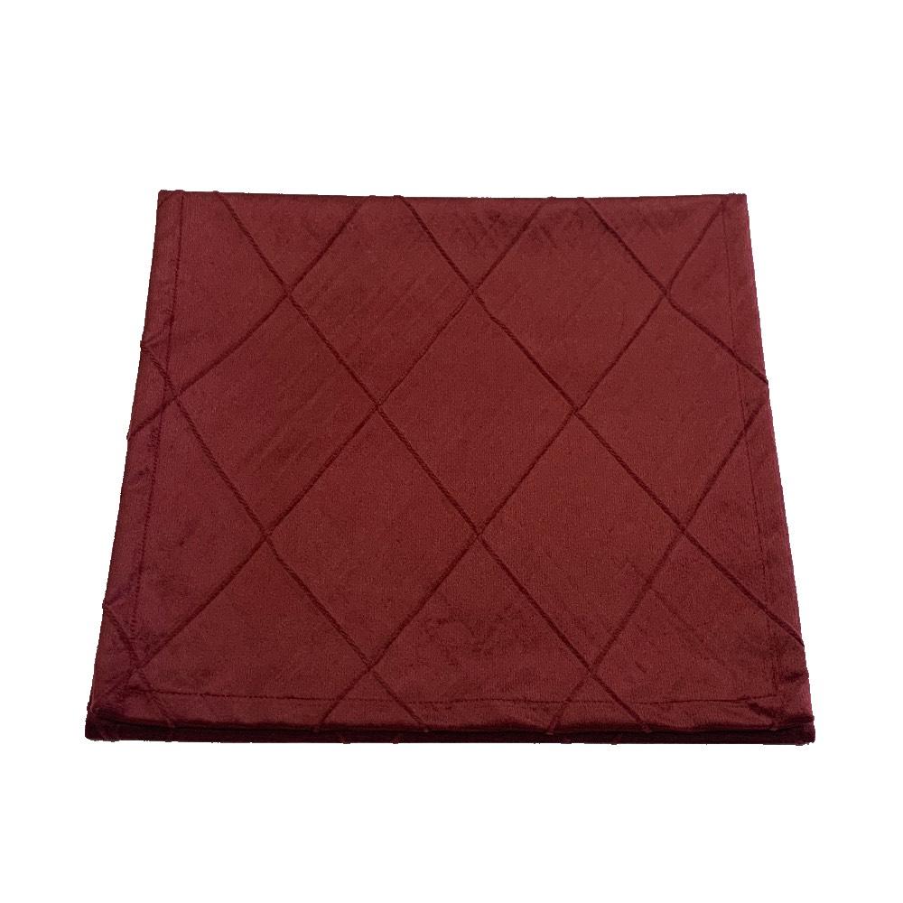 Trilho de mesa de veludo bordado