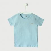 Camiseta Básica Primeiros Passos Lisa Azul
