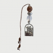 Medalhão Santo Anjo Arco Marrom