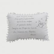Mini Almofada Santo Anjo Cinza