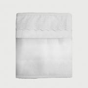 Protetor Telado Para Laterais Do Berço Com Bordado Inglês Branco