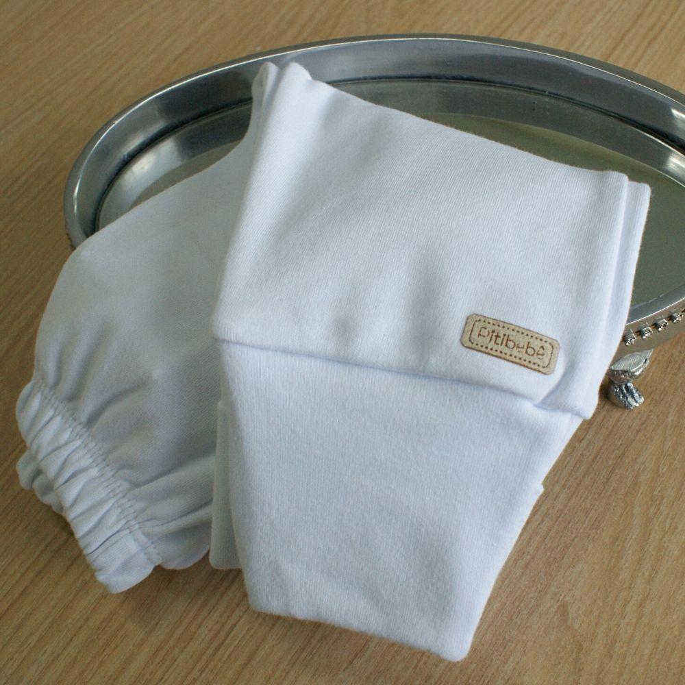 Calça Suedine Fio Egípicio Liso Branco