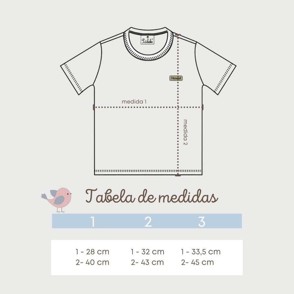 Camiseta Básica Primeiros Passos Lisa Cinza
