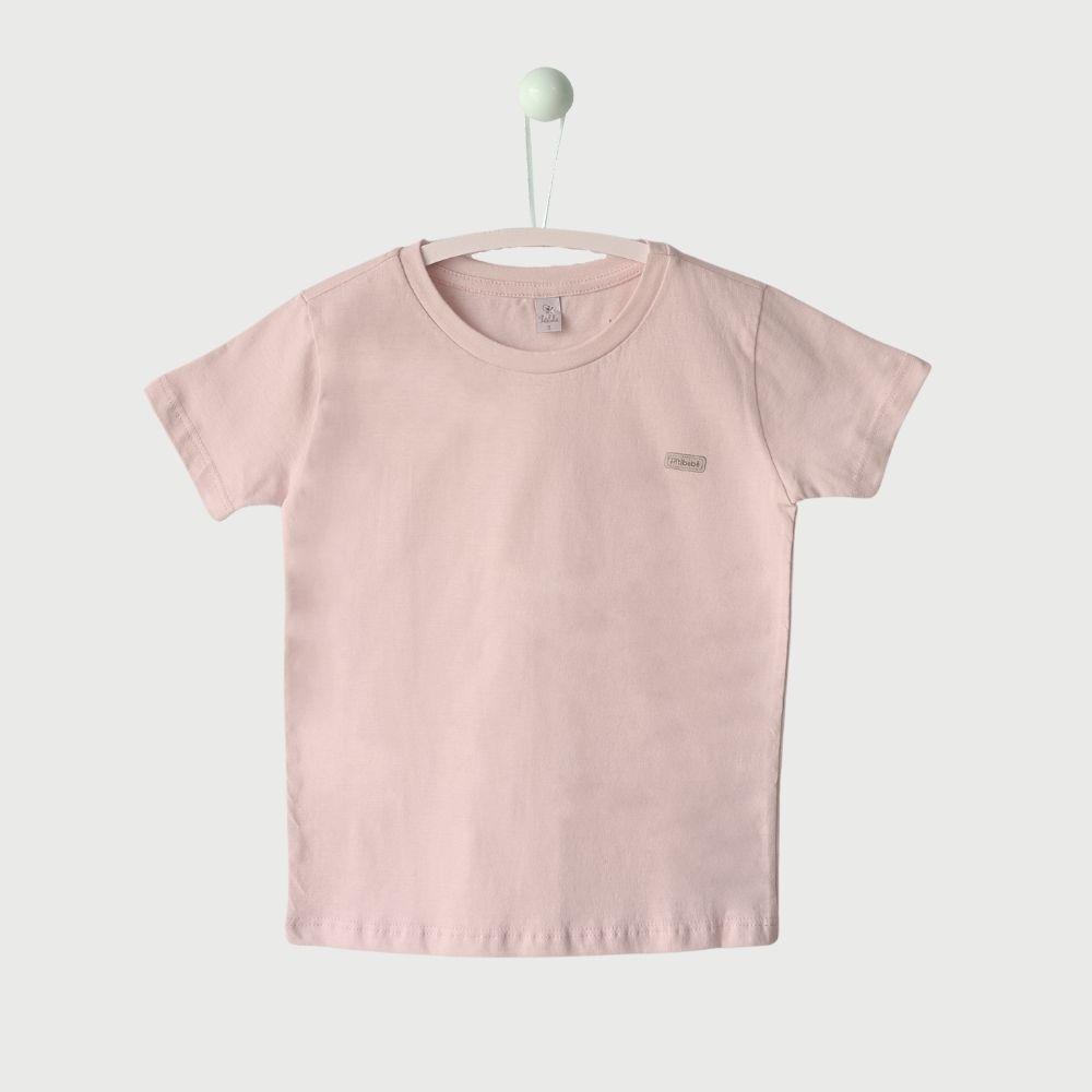 Camiseta Básica Primeiros Passos Lisa Rosa