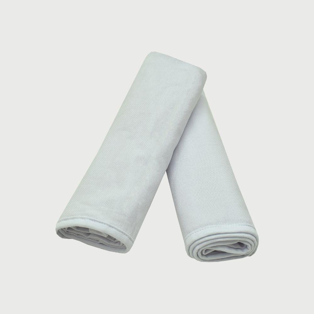 Cueiro 2 Unidades Flanela Detalhe Branco