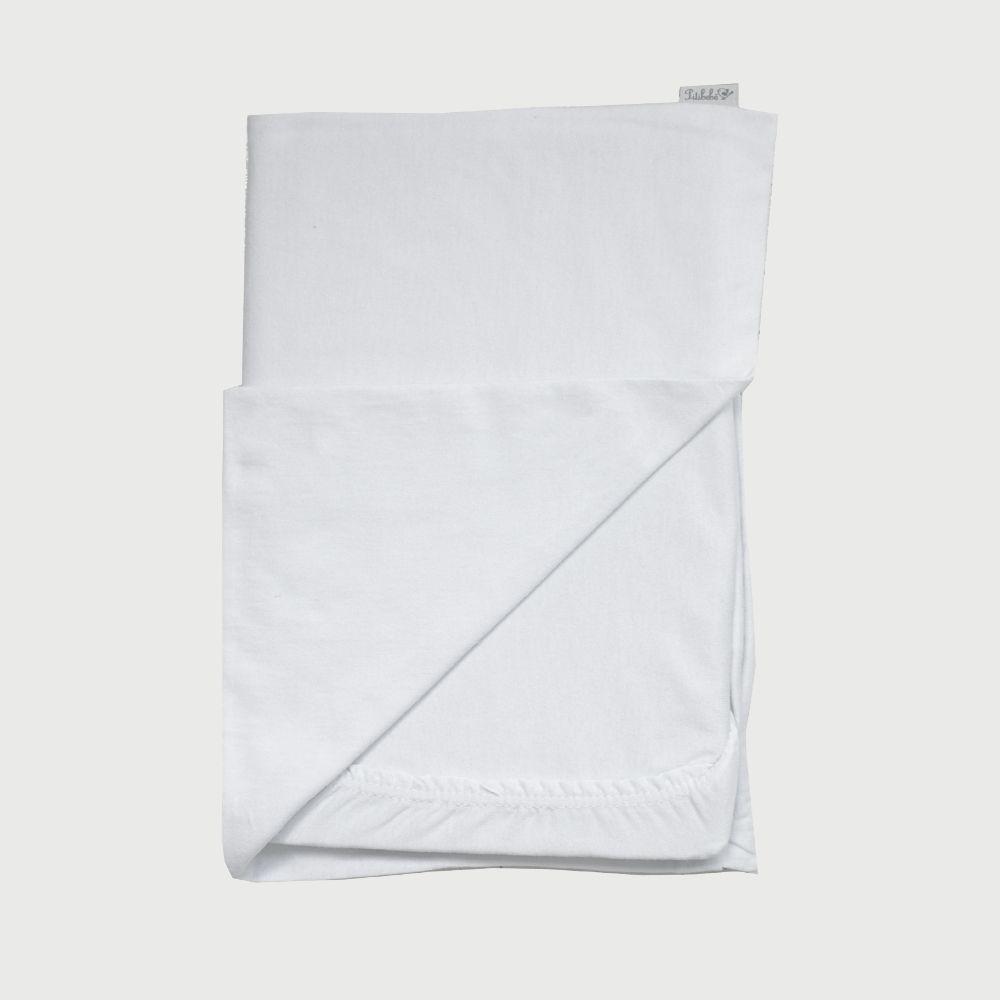 Jogo De Lençol Para Berço Camping 2 Peças Malha Liso Branco