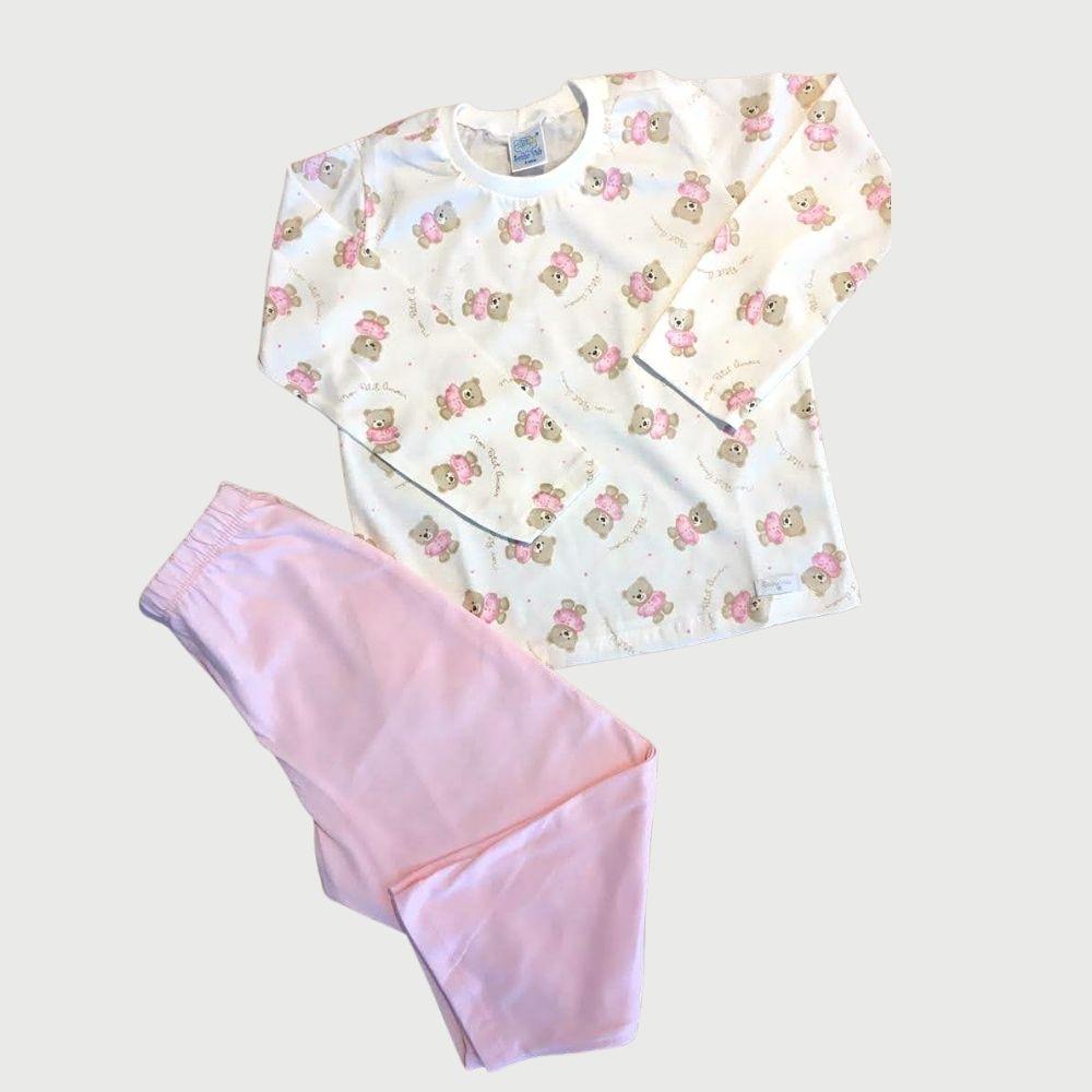 Pijama Longo 2pç Malha Petit Rosa