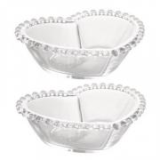 Conjunto Bowls de Cristal Coração Pearl 2 peças