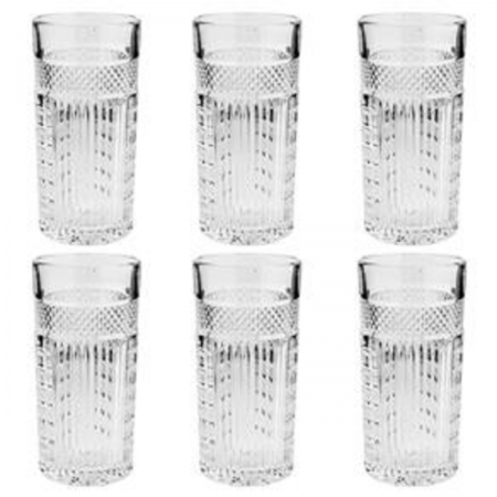 Conjunto Copos Lolng Drink de Cristal Santorini 6 peças