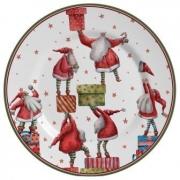 Jogo de Prato Raso Father Christmas 6 peças