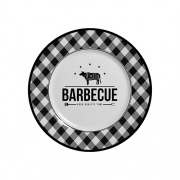 Jogo de Prato Sobremesa Barbecue - 103 B 6 peças