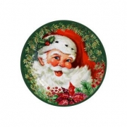 Jogo de Prato Sobremesa Natal 6 peças