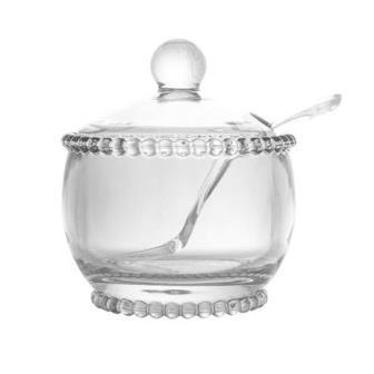 Conjunto Açucareiro de Cristal com Colher Pearl 2 peças