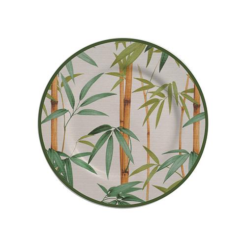 Jogo de Prato Sobremesa Bambu 6 peças