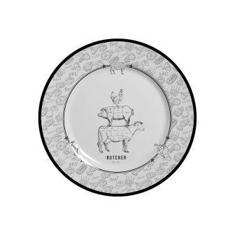 Jogo de Prato Sobremesa Barbecue - 103 D 6 peças