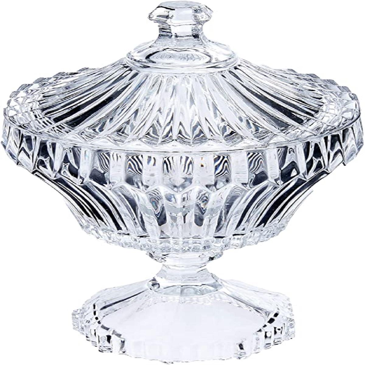 Potiche Renaissance de Cristal com Pé