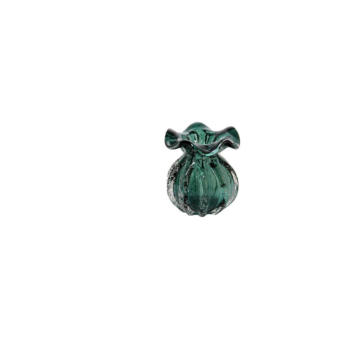 Vaso Italy de Vidro Verde Esmeralda