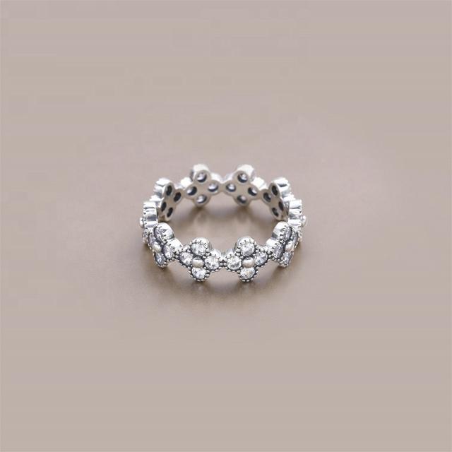 Anel de Prata 925 Flor Oriental