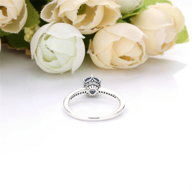 Anel de Prata 925 Solitario Real Pedra de Zicôrnia Branca
