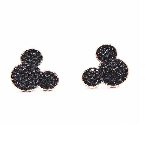 Brinco Mickey Minnie Feminino Zircônia Aço Inoxidável