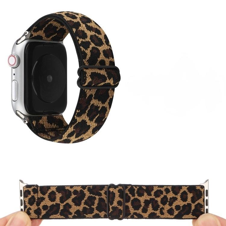 Pulseira Para Apple Watch Nylon 17 cm Estampa Leopardo