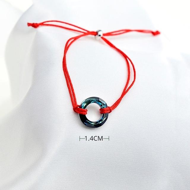 Pulseira tipo Bracelete fio nylon com Cristal de Swarovski