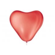 Balão Coração No 6 Vermelho quente  c/50 un -
