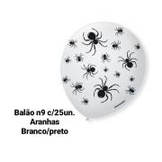 Balão No 9 Aranha  Branco/Preto - São Roque