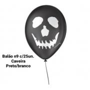 Balão No 9 Caveira Preta/Branca - São Roque