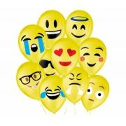 Balão No 9 Emoções Sortidos c/25 un -