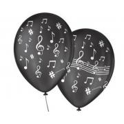 Balão No 9 Nota Musical Preto/Branco c/25 un -