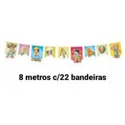 Bandeira Junina Decorada /22 pçs Medida 23x32 e 21x23 - Festança