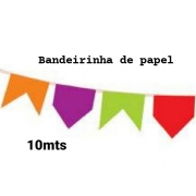 Bandeirinha Papel 10 mts - Real Seda