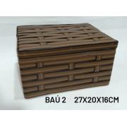 Baú No 2 Marrom Medida 27x20x16cm - RD Artesanato