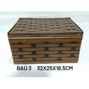 Baú No 3 Marrom Medida 32x25x16,5cm - RD Artesanato