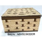 Baú No 4 Carnauba Medida 40x32,5x22cm - RD Artesanato