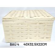 Baú No 4 Creme Medida 40x32,5x22cm - RD Artesanato