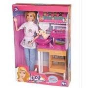 Boneca Lucy Veterinária - Braskit