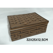 Caixa Pequena Marrom Medida 32x25x12,5cm - RD Artesanato